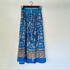 Boho Floral Jean Skirt